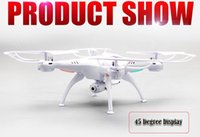 Wholesale Drones SYMA X5SW WIFI RC Drone Helicopter Quadcopter with Camera G Axis Real RC Helicopter Toy