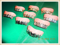 false teeth - New Funny Gags Practical Jokes Prank Freak Gold and Silver Teeth False Teeth Set Halloween and April Fool s Day Gift Wacky