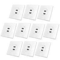 ac double dc - MENGS per pack Double USB Charging Wall Socket Input AC V A USB output DC V A