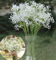 Nova Chegada Falso Silk Flowers Planta Início Decoração do casamento frete grátis Respiração Artificial de Gypsophila bebê
