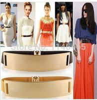 Wholesale new arrival Europe America gold metal mirror face belts for sexy women Apparel Accessories
