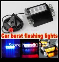 Wholesale hot sale Red Blue LED Super bright high power Strobe Flash Warning Car Light Flashing Fog Lights LED