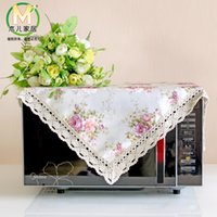 Wholesale More universal cover with towel towel refrigerator cover cloth towel Korean microwave oven hood pastoral lace cotton cloth
