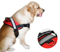 Harnesses big pitbull dogs - Designer Big Dog Pull Training Harness Vests Chest Straps with Handle Large Dogs Nylon Oxford Vest with Reflective Tape for Husky Pitbull
