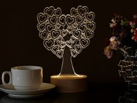 beech trees - D Stereo Lamp Beech Base LED Decorative Lamp Birthday Gift Atmosphere Light Romantic Valentine s Day Love Tree