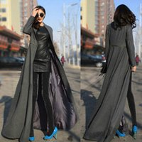 Wholesale Slim and thin extra long models large swing wool woolen coat divided into sections to be used as short coat