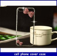 Wholesale DIY Cellphone cover case butterfly knit with diamond cover case for samsung and iphone4s p