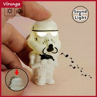 Wholesale The Moive Star Wars Key Chain Keychain Star Wars Night Lighting LED and Sound Gift Toys