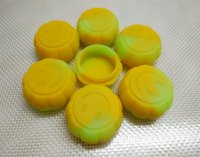 Wholesale Wax atomizer pumpkin shape silicone jars dab wax vaporizer oil container ml