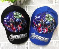 Wholesale 30pcs Avengers Age of Ultron children Baseball cap summer style cartoon super heros hat boys ball caps Iron Man hats HX