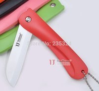 Wholesale 1 Timhome kitchen knives cooking tools home folding fruit knife ceramic knife inch ceramic knives