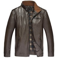 bamboo fertilizer - Fall new brand high end men s Leather Men add fertilizer increased leisure jacket and XL XL XL XL XL
