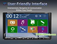 Wholesale In dash Universl HD Car CD Video DVD Player Wireless Camera Car PC Bluetooth Stereo Radio TV Ipod Car DVD Player Free GPS Card Map