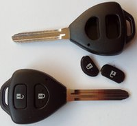 Wholesale hot sell car key blank toyota button remote key shell toy43 blade for Carola camry
