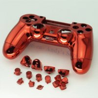 caja del controlador xbox al por mayor-2015 nueva moda de color rojo de cromo reparación Shell Shell botones para Sony PS4 Wireless Controller Housing Replacements