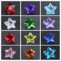 Wholesale Crystal Star Floating locket charms Mix color mm round glass