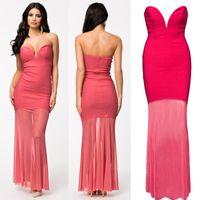 strapless maxi dress - 2015 New Summer Dress Sexy Strapless Celeb Bodycon Bandage Dress Maxi Long Party Dress