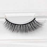Wholesale RM010 pairs Premium quality Real mink fur strip lashes100 natural siberian thick winged false mink eyelash