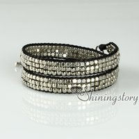 Wholesale beaded silver and gold nugget bracelets friendship best friends double layer bracelets adjustable fashion bracelets jewellery jewelry