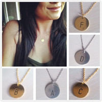 Wholesale Gold Sliver Chain Letter Personalized Charm Pendant Necklace Tiny Initial Delicate Minimalist Necklace Bridesmaid Everyday Gift