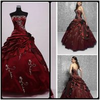 ball closure - 2016 Masquerade Ball Gown Strapless Quinceanera Dresses Crystals Beads Tiered Ruffles Lace up Back Closure Vestido De Festa Plus Size