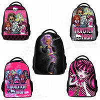 Wholesale Hot Sale New for monster new monster high bag school children backpacks with new design and zipper children girl cartoon monster
