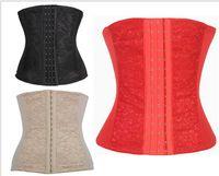 Cheap waist trainers corsets 8 steel boned waist cincher trainer shaper weight lost girdle slimming belt for post partum women cinta emagrecedora