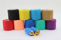Wholesale 7 Color U Pick Premium High Quality Medical Grade Tattoo Grip Cover Self adhesion Tape Tattoo Supply