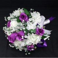 Wholesale 2015 Hot Sale Artificial Wedding Silk Babysbreath Rose Bridal Bouquet Color To Choose For Wedding Decoration Handmade Flowers