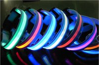 glow in dark products - 2015 pet supplies shop LED bright night light up glow in the dark dog collars for large dogs puppy chihuahua products for animals