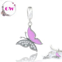 Wholesale butterfly charms butterfly dangle charms Animals silver charms fit charm bracelets No90 S182