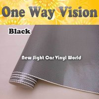 solvent film - Printable Double Black One Way Vision Perforated Window Vinyl Perforated Window Graphic ECO Solvent Printer Size x50M Roll