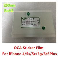 apple rohs - SJ F G6 RoHS um OCA Sticker Film for iphone s s c plus Optical Clear Adhesive Glue Sticker OCA Film dhl