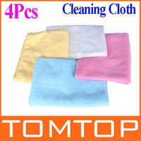 Wholesale 4pcs Colorful Microfiber Cleaning Cloth Car Wash Towel Kitchen Dish Clean Cloth drop shipping