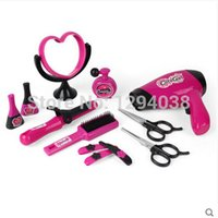 Wholesale Set In Pieces Simulation Hair Dryer Kit Make up Set Fashion Princess Beauty Set Pretend Play Toys Great Christmas Gifts
