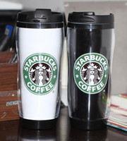 Wholesale New Style Starbucks Cup Plastic Warm Keeping Mug Coffee Cup Mark cup ML Travelling Portable Cup