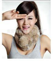 Wholesale Rex manufacturers supply pure wool scarf three fur collar rabbit fur collar scarf