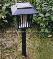 Wholesale Retail Solar LED Lamp Mosquito Killer Zapper Garden Light Outdoor Courtyard light Freeshipping