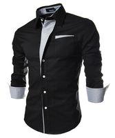 xxxl - Large Size Men Shirt New Brand Mens Dress Shirts Men s Fashion Casual Long Sleeved Shirt Blouse Men blusa masculina M XXXL