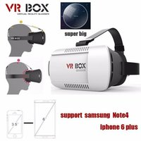 Wholesale 2015 Google cardboard VR BOX Version VR Virtual Reality Glasses Smart Bluetooth Wireless Mouse Remote Control Gamepad