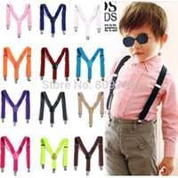 Wholesale 6X Children Clip on Adjustable Elastic Pants Y back Suspender Braces Belt children Black BOYS GIRLS Suspender Free