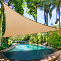 Wholesale Triangle Sun Shade Sail UV Blocked Size M M M Sun Shade Sail PU Coated Stay Cool Waterproof Shade Sails