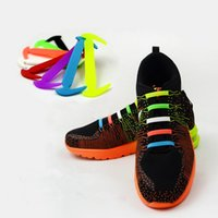 athletic clogs - Fashion No Tie Rubber Elastic Shoelace Sneaker Three Size Children Adult Shoe Laces Running Shoelaces Athletic Shoelaces