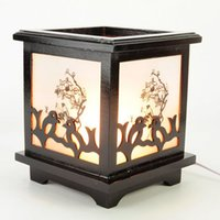 electric oil burner - Made in China Manufacture electric wooden fragrance lamp wood incense burner oil burner with a dish