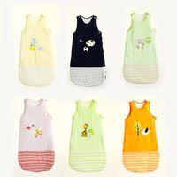 Wholesale Newborn Sleepsacks Cotton layers Years baby sleeveless Embroidery sleeping bag baby sacks