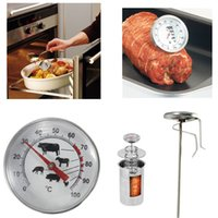Wholesale NEW Stainless Steel Pocket Probe Thermometer Gauge For BBQ Meat Food Kitchen Cooking Instant Read Meat Gauge