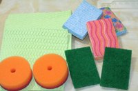 Wholesale Export scouring sponge cloth washing cloth kitchen scrubbing pots strong decontamination clean nonstick oil rag housework