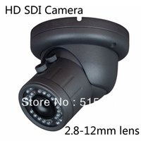 Cheap 3.5 inch vandalproof 2Megapixel Full HD 1080P SONY Cmos SDI Camera 2.8-12mm Security cctv metal dome cam 36IR 50M Free shipping