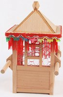 Wholesale 21 cm bag Mini wood Sedan chair hand Wooden crafts tools art furnishing articles