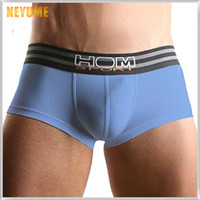Wholesale HOM sport fashion sexy lingerie men underwear hight quality shorts mens underwear boxers homme men s panties boxer sexy for